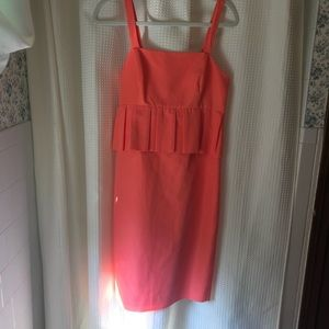 A beautiful coral fitted dress from J. Crew NWT